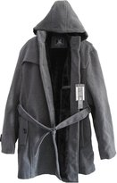 Fashciaga Men's Hooded Faux Fur Lined Woolen Trench Coats X-large