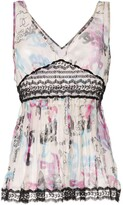 Chanel Pre Owned CC draped vest top