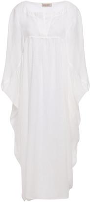 Gentryportofino Gathered Ramie Midi Dress