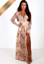 Pink Boutique Limited Edition Everlasting Rose Gold Sequin Long Sleeve Maxi Dress