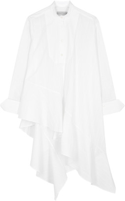 Palmer Harding Palmer/Harding Palmer//harding Spicy White Asymmetric Poplin Shirt
