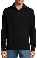Black Brown 1826 Wool-Blend Quarter-Zip Sweater