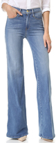 Frame Le Capri Piping Wide Leg Jeans