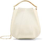 Eddie Borgo Pepper Mini Paneled Canvas And Leather Shoulder Bag - Cream