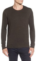 Velvet by Graham & Spencer Men's Modern Trim Marled Long Sleeve T-Shirt