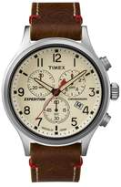 Timex Brown 'expedition Scout' Chronograph Watch Tw4b04300