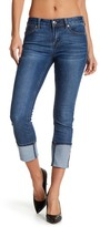 Seven7 Cuff Busted Seam Slim Straight Jeans