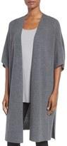 Eileen Fisher Women's Fine Merino Wool Rib Knit Kimono Cardigan