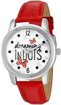 Disney Women's 'Minnie Mouse' Quartz Metal Automatic Watch, Color: (Model: W002790)