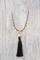 Gorjana Beaded Tassel Adjustable Necklace