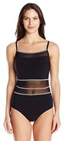 Christina Women's Still Sea One Piece Swimsuit with Mesh Inserts