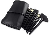 Bliss & Grace 24-Piece Professional Makeup Brush Set with Vegan Leather Travel Case - Black