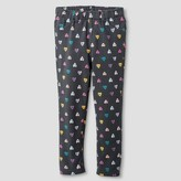 Toddler Girls' Heart Jeggings Grey - Cat and Jack