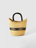 Savanna Baskets Diamond Straw Basket