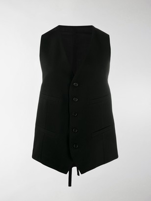 Ann Demeulemeester Fitted Button Vest