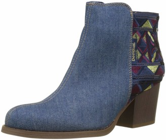 Desigual Shoes_country_exotic Denim Womens Ankle boots