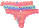 Betsey Johnson Slinky Knit Thong - 3 Pack