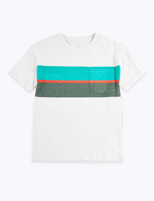 Marks and Spencer Cotton Striped T-Shirt (6-16 Years)