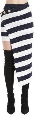 Balmain Striped Skirt