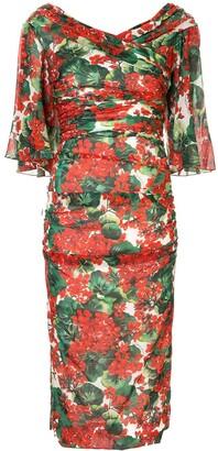 Dolce & Gabbana Portofino Print Midi Dress