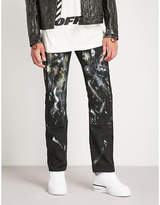 Off-White C/O Virgil Abloh Paint-splattered slim-fit straight jeans
