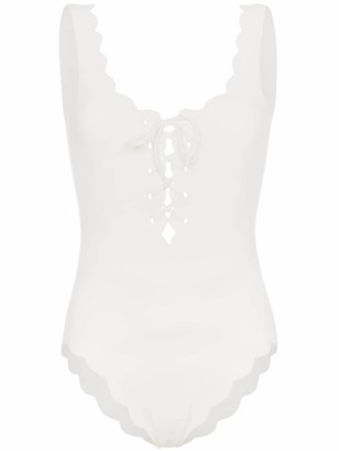 Marysia Swim Palm Springs tie-front swimsuit