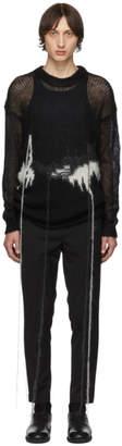 Isabel Benenato Black Mohair Flowing Threads Sweater