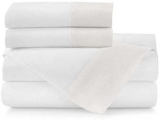 Peacock Alley Mandalay Cuff Sheet Set - Pearl Queen