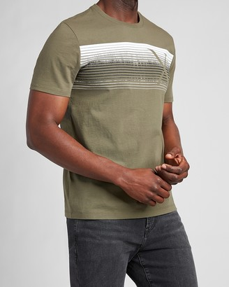 Express Olive Logo Graphic T-Shirt
