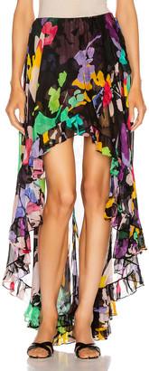 Caroline Constas Adelle Ruffle Skirt in Black Multi | FWRD