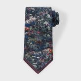 Paul Smith Men's Damson 'Photo-Floral' Silk Tie