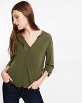 Express long sleeve surplice blouse