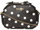 Dorothy Perkins Womens Mono Polka Dot Camera Bag- Black