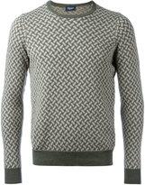 Drumohr chain pattern jumper - men - Linen/Flax/Polyamide - 46