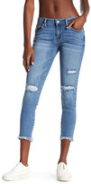 Just USA Frayed Hem Cropped Skinny Jeans (Juniors)