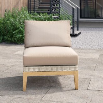 """Foundstoneâ""""¢ River Patio Chair with Cushions Foundstonea Cushion Color: Cast Oasis"""