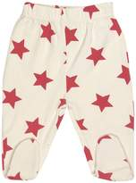 Maple Clothing GOTS Certified Organic Cotton Clothing Footed Baby Pants (Stripes-Dots, 0-3m)