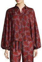 Alexis Nicolette Bishop-Sleeve Printed Top