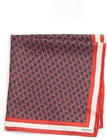 Gucci Men's Iggy Silk Pocket Square