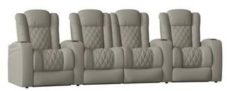 Red Barrel Studioâ® Home Theater Configurable Seating (Row of 4) Red Barrel StudioA Body Fabric: Classic Gray