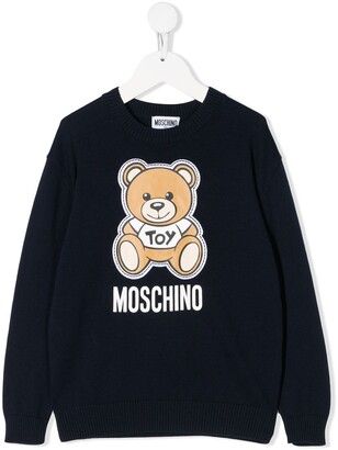 Moschino Kids Teddy Bear knit jumper