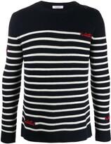 Valentino beaded striped jumper