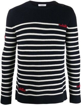 Valentino Beaded Striped Jumper