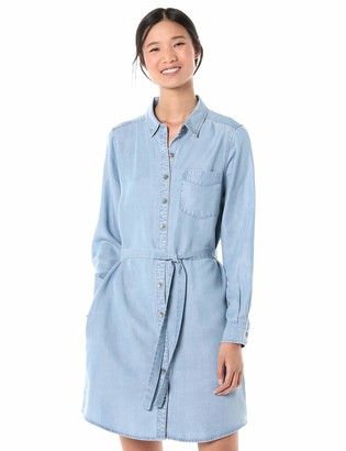 Goodthreads Tencel Long-Sleeve Shirt Dress Casual