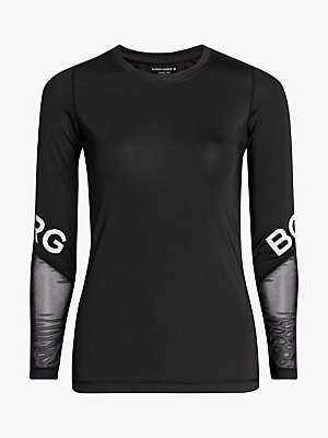 Bjorn Borg Cynthia Long Sleeve Training Top, Black Beauty