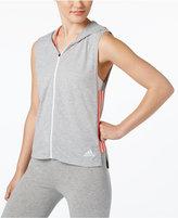adidas Mesh-Trim Hoodie Vest