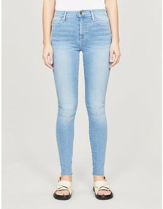 Frame Le High Skinny Raw Edge high-rise jeans
