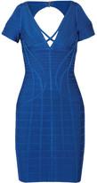 Herve Leger Kyle Cutout Bandage Mini Dress - Bright blue