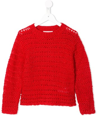 Stella Mccartney Kids Open Weave Jumper