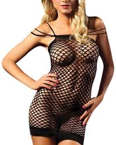Fashion Story Women Mesh Pajamas Babydoll Bodycon Nightclub Wear Lingerie Set